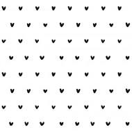 Lilipinso Vliestapete weiß mit schwarzen Herzen