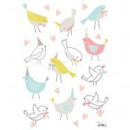 Lilipinso Wandsticker A3 Vögelchen