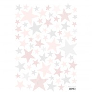 Lilipinso Wandsticker A3 Sterne hellrosa