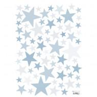 Lilipinso Wandsticker A3 Sterne hellblau