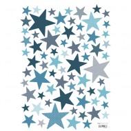 Lilipinso Wandsticker A3 Sterne dunkelblau