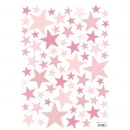 Lilipinso Wandsticker A3 Sterne pink