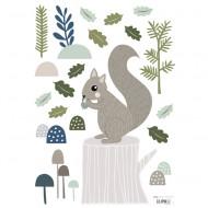 Lilipinso Wandsticker A3 mit Eichhörnchen