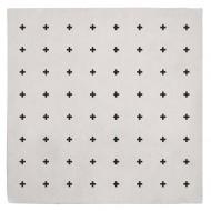 """Lilipinso Baumwollteppich 70x70m """"Kreuze"""" in cremeweiß/schwarz"""