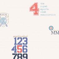 Lilleby Vliestapete RSCA Baseballmotiv in blau-rot-braun