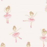 Lilleby Vliestapete Ballerina in rosa