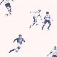 Lilleby Vliestapete Fußballer in blau-grau