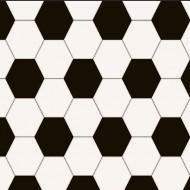 Lilleby Vliestapete Fußball in schwarz