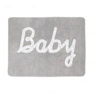 Teppich waschbar Baby in grau 120x160cm