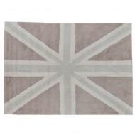 Teppich waschbar England-Flagge in beige-grau 140x200cm