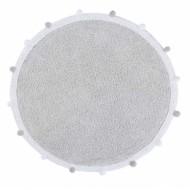 Lorena Canals waschbarer, runder Teppich Bubbly Light Grey Ø120cm