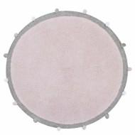 Lorena Canals waschbarer, runder Teppich Bubbly Soft Pink Ø120cm