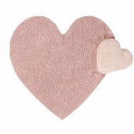 Lorena Canals waschbarer 2in1 Teppich PUFFY LOVE  mit Kissen in rosa 160x180cm