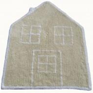 Teppich waschbar Haus in beige