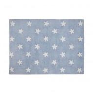 Lorena Canals waschbarer Teppich in blau mit weißen Sternen 120x160cm