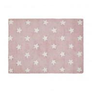 Lorena Canals waschbarer Teppich in pink mit weißen Sternen 120x160cm