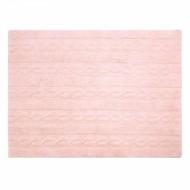 Lorena Canals waschbarer Teppich Zopfmuster rosa 120x160cm