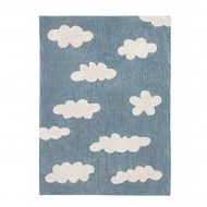 Lorena Canals waschbarer Teppich Wolken Vintage blau 120x160cm