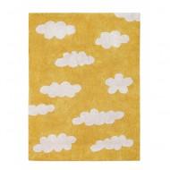 Lorena Canals waschbarer Teppich Wolken senfgelb 120x160cm