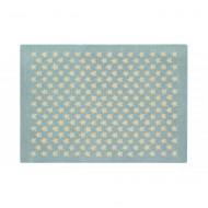 Lorena Canals Teppich hellblau aus 100% Wolle mit Sternen 140x200cm