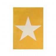 Lorena Canals Teppich mustard aus 100% Wolle mit großem Stern 140x200cm