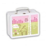 Lusciamar Metallköfferchen Wald in rosa - mit Wunschname