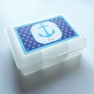 Lusciamar Lunchbox Motiv Anker, Name LENI
