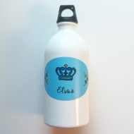 Lusciamar Trinkflasche Krone hellblau mit ELIAS