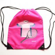 Lusciamar Turnbeutel pink mit Tennistrikot in rosa, Name: AMELIE
