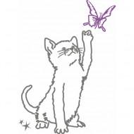 MIMI'lou Sticker Katze mit Schmetterling
