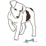 MIMI'lou Sticker Hund mit Knochen