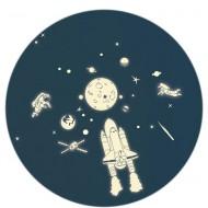 MIMI'lou Sticker Weltraum - leuchten im Dunkeln