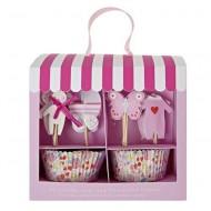 Meri Meri Cupcake-Set Rosa