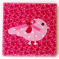 Moepa Bild Vögelchen in rosa-pink 20cm