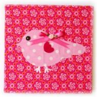 Moepa Bild Vögelchen in pink-rosa 20cm