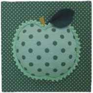 Moepa Stoffbild Apfel dunkelgrün-mint 20cm