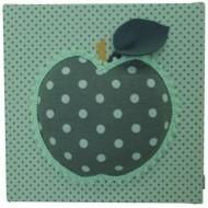 Moepa Stoffbild Apfel 2 mint-dunkelgrün 20cm