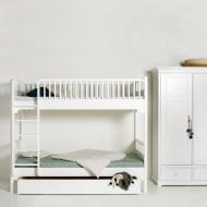Oliver Furniture Etagenbett 90x200cm mit gerader  Leiter