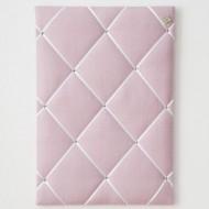 Paula&Ferdinand Memoboard Pinwand Leinen rosa mit weißem Band