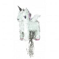 Tim&Puce Piñata Einhorn weiß-silber