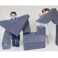 Plumplori Spielwürfelset Batu 10-teilig in grau mit Sternen