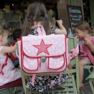 Plumplori Paris Rucksack rosa mit Stern aus Stoff