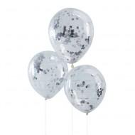 Ginger Ray Konfetti-Ballons silber Ø 30cm