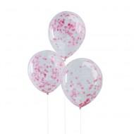 Ginger Ray Konfetti-Ballons pink Ø 30cm