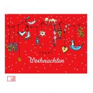Postkarte Weihnachten von Krima&Isa