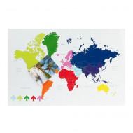 Presenttime Memoboard Weltkarte magnetisch