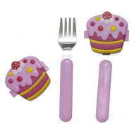 Rice Kinderbesteck-Set Cupcake in pink