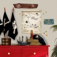 RoomMates Wandsticker Piratenmappe zum Abwischen