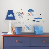RoomMates Wandsticker Flugzeuge
