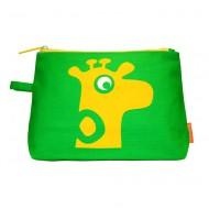 RoomMate modischer Kosmetikbeutel in grün mit Giraffe